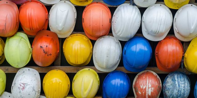 Collection of Construction and Safety Hats