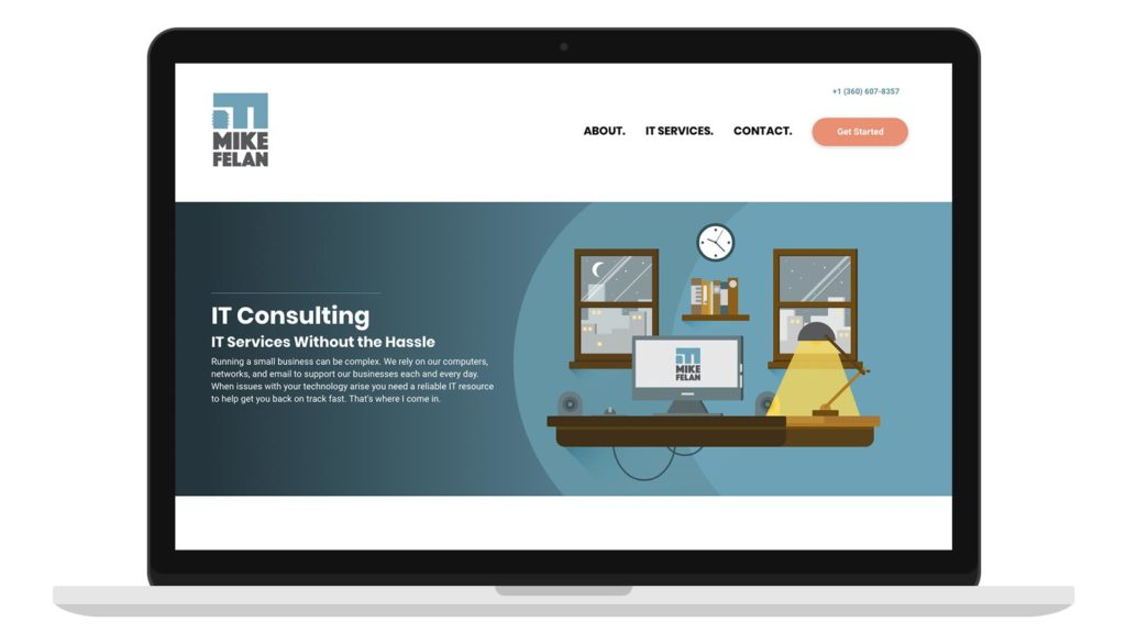 Mike Felan Website Homepage Design
