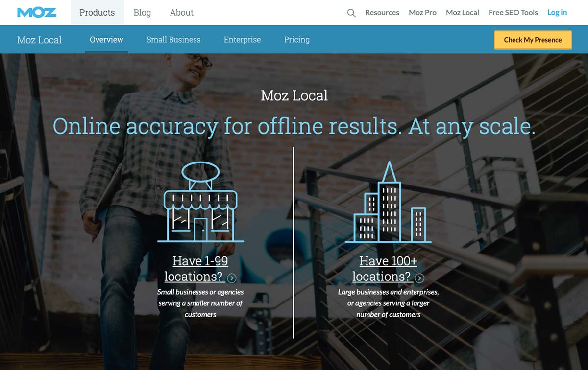 Moz Local Landing Page