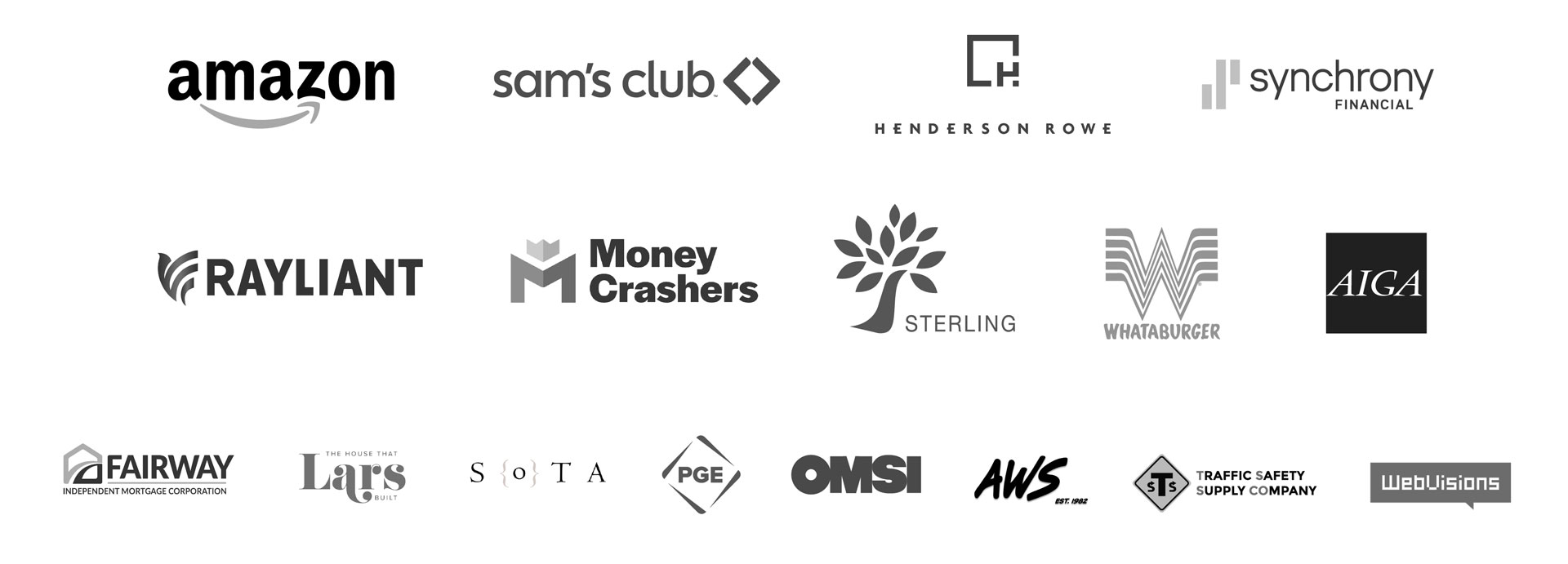 Logos of Clients that Shop has done work for